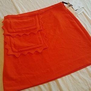Victoria Beckham Orange Skirt sz M NEW
